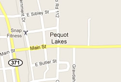 Pequot Lakes real estate area map